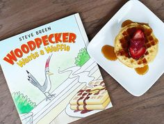 We think everyone should treat themselves to waffles this weekend!! In Woodpecker Wants a Waffle, Benny the woodpecker REALLY wants to try a waffle. So he tries everything he can think of to get in the diner... and can you blame him?? This book will have your little reader laughing out loud at Benny's hilarious hijinks!  #childrensbooks #kidlit #picturebooks #waffles #woodpecker #bookstagram #books
