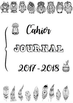 Cahier journal 2017-2018