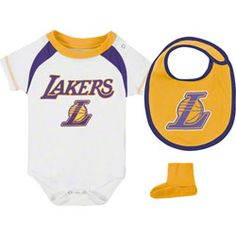 Los Angeles Lakers Infant Baby adidas Creeper, Bib & Bootie Set $29.99 http://www.fansedge.com/Los-Angeles-Lakers-Infant-Baby-adidas-Creeper-Bib-Bootie-Set-_-967763077_PD.html?social=pinterest_pfid32-47314