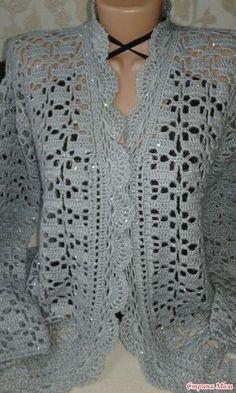 ideas crochet sweater free women jacket pattern for 2019 Crochet Shrug Pattern Free, Crochet Shawl Diagram, Crochet Edging Patterns, Knitting Patterns, Crochet Ideas, Crochet Lace Dress, Crochet Wool, Crochet Jacket, Crochet Clothes