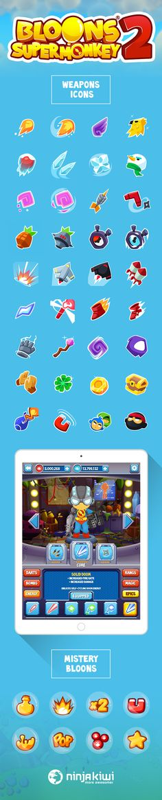 Icons design - Bloons Super Monkey 2