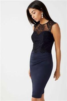 Buy Lipsy 2 in 1 Lace Shelf Dress from the Next UK online shop Navy Dress, Blue Dresses, Formal Dresses, Lipsy Dresses, Going Out Dresses, Next Uk, Lace Tops, Uk Online, 2 In