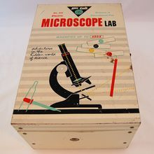 Vintage 1959 Childs Skil Craft Electric Microscope Lab World of Science from Antik Avenue on Ruby Lane SOLD!