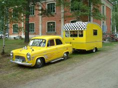 '56 ford prefect, '56 med husvagn willerby