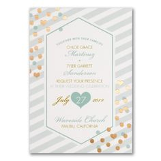 Glam Stripes Wedding Invitation 40% OFF  |  http://mediaplus.carlsoncraft.com/Wedding/Wedding-Invitations/3254-TWS39841-Glam-Stripes--Invitation.pro