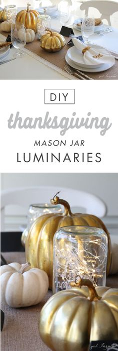 Illuminate your Thanksgiving table with help from Jo-Ann's. This easy craft project includes everything from metallic gold pumpkins to DIY mason jar lanterns. Sprucing up your home for fall is easy with this simple yet stylish decoration inspiration.