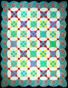 """""""Petal Patch"""" from C&T Publishing's book """"Flip & Fuse Quilts"""" by Marcia Harmening of Happy Stash Quilts"""