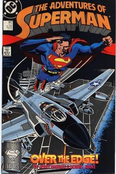 DC Comics Back Issues The Adventures of Superman Superman Over The Edge DC Comics Dec 1988 Modern Age / USA / English Comic / 32 pages Silver Banshee, Comic Book Covers, Comic Books Art, Adventures Of Superman, Comic Art Community, Superman Family, Superman Comic, Comic Book Collection, Batgirl
