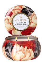 Voluspa 'Maison Jardin - Yuzu Rose Stonecrop' Two-Wick Candle