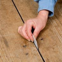 Fixing gaps in floorboards