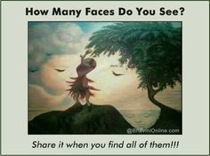 how amny faces do you see