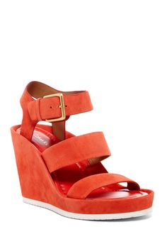 c5a56442520 Hailey Suede Wedge Sandal Designer Sandals