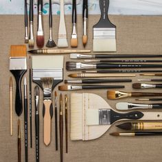 We're super proud of our Jackson's range of brushes, from speciality watercolour brushes with which you can create the finest of touches to oil painting brushes that allow you to produce strong, bold marks with paint #painting