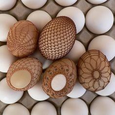 Copper wired easter eggs. Interesting concept.I have some these in my egg collection,simple but gorgeous