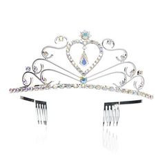 SWEETV Children Princess Tiara Rhinestone Party Wedding Crown with Combs MultiColored -- Learn more by visiting the image link.(This is an Amazon affiliate link and I receive a commission for the sales)