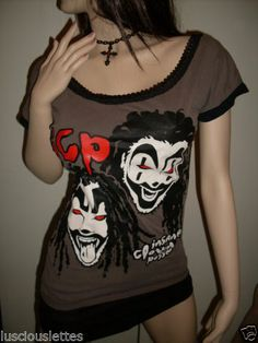 ICP House of Horrors Tour Top T Shirt Handmade Juggalette Twiztid
