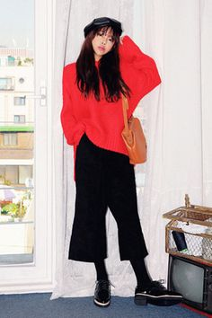 Basic High-Low Loose-Fit Knit