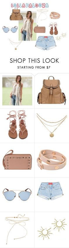 """Lala for Lolla"" by wilsonsleather ❤ liked on Polyvore featuring Wilsons Leather, Tory Burch, Christian Dior and VANINA"