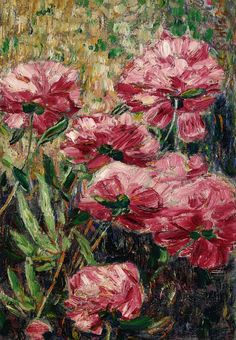 Peonies, 1906, Christian Rohlfs. German Expressionist Painter (1849 - 1938)