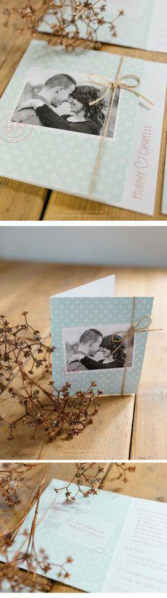 Weddingstationery, Wedding Invite, Mint, Rose, Vintage, Hochzeitseinladung, Minzgrün, Rosa, Vinatge, Trouwkaart