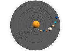 Braille Solar System Model 3D Print 144944