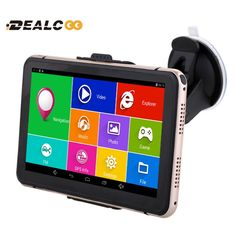 Dealcoo 7 inch Car GPS Navigation Android WIFI Russia Navitel/Europe map Truck Vehicle gps Navigator sat nav Built 8GB 512M DDR