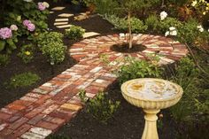 Scroll down to see 12 invention ideas how to use bricks for garden perfection!