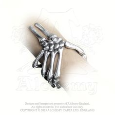 Alchemy Gothic Curse of Ezekiel Skeleton Hand Bracelet Cuff