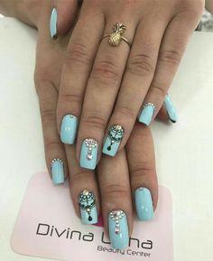 Perfumery and Cosmetics Love Nails, How To Do Nails, My Nails, Modern Nails, Manicure E Pedicure, Pretty Nail Art, Nail Art Hacks, Nails Inspiration, Beauty Nails