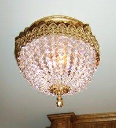 how to: Swarovski crystal lamp