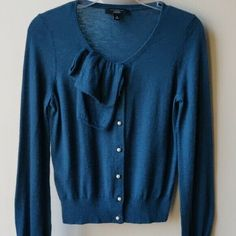 Ann Taylor Cashmere Cardigan Sweater Teal M Cashmere Cardigan, Cashmere Sweaters, Sweater Cardigan, Online Price, Ann Taylor, Teal, Fashion, Sweater, Moda