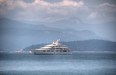 Superyacht in English Bay Super Yachts, Luxury Yachts, British Columbia, Victorious, Alaska, Vancouver, Holland, San Diego, Ocean