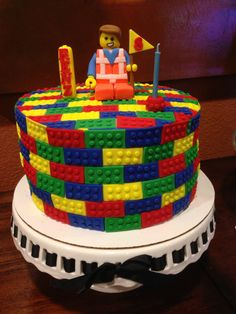 Lego emmet cake, all edible no molds used. Time consuming but fun to make.
