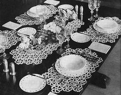 Snow Crystal Luncheon Set Pattern #7051