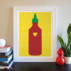 Sriracha Love Print - @Sarah Bowers you need to get this for CLAY!