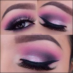 @anastasiabeverlyhills Hypercolor 'In The Pink' on the crease. Wet N Wild purple on the outer corner - crease. Mac pressed pigment 'Light Touch' on the lid @ESQIDO Lashes Voila Lash @anastasiabeverlyhills Dipbrow & Brow Powder Duo - @Miss Mae
