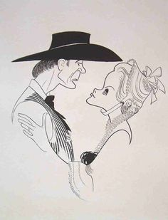 "Al Hirschfeld ~ IBM presents Movies to Remember: Gary Cooper & Grace Kelly in ""High Noon"" Western Film, Western Movies, Lloyd Bridges, Lee Van Cleef, Gary Cooper, High Noon, Cool Artwork, Amazing Artwork, Black And White Portraits"