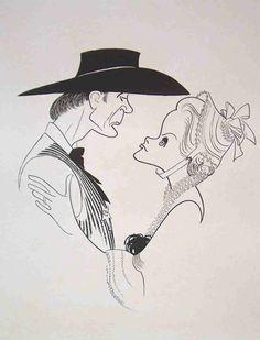 """Al Hirschfeld ~ IBM presents Movies to Remember: Gary Cooper & Grace Kelly in """"High Noon"""" Western Film, Western Movies, Lloyd Bridges, Lee Van Cleef, Gary Cooper, High Noon, Cool Artwork, Amazing Artwork, About Time Movie"""