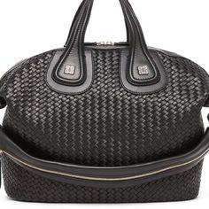 Givenchy Nightingale interweave shopping tote. NWT Givenchy Black Nightingale interweave leather shopping bag.  NWT & dust bag.  NWT Givenchy Bags Satchels