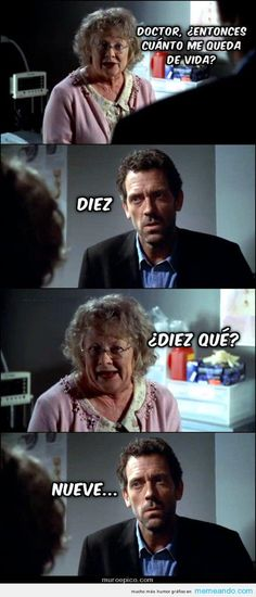 Memes Para Facebook en Español ->> MEMEando.com << - Page 7 I Love House, Gregory House, Funny Scenes, Funny Images, Funny Pictures, Funny Pics, Hilarious Photos, Hilarious Jokes, Funny Bunnies