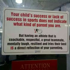 or how to be any good parent in any sport