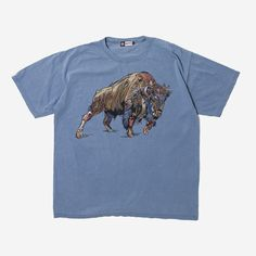 4a20135bb17 Buffalo artwork on the washed vintage Tee  illustration  buffalo   graphictees  graphictshirt