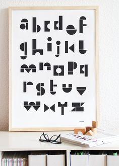 snugabc poster by snugstudio on Etsy, $27.00