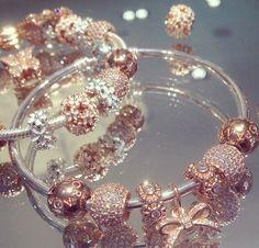 PANDORA Rose bracelets are a unique pop of color. #PANDORATexas #PANDORAbracelets #PANDORARose