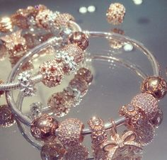 Pandora- Love the rose gold look here too :) I would love for my husband and kids to pick out charms for me sometimes  so really anything that represents us would be great!!