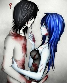 Jeff the Killer and an OC, I'm guessing.