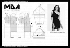 Выкройка платья с ассиметричным рукавом / Простые выкройки / Своими руками - выкройки, переделка одежды, декор интерьера своими руками - от ВТОРАЯ УЛИЦА