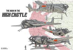 ArtStation - Man in the High Castle Japanese Planes, Dallin Bifano Concept Ships, Concept Art, Graffiti Pictures, High Castle, Airplane Art, Sci Fi Ships, Alternate History, Cyberpunk Art, Aircraft Design