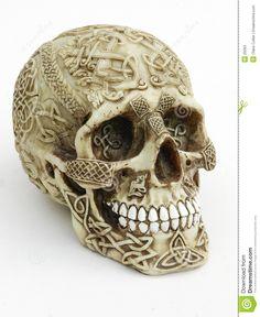 tibetan carved human skulls | Carved Skull