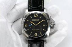 Panerai PAM 1312 S ZF 1:1 Best Edition Black Dial on Black Leather Strap ZF P9010